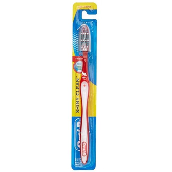 Oral-B Shiny Clean ToothBrush (White Red)