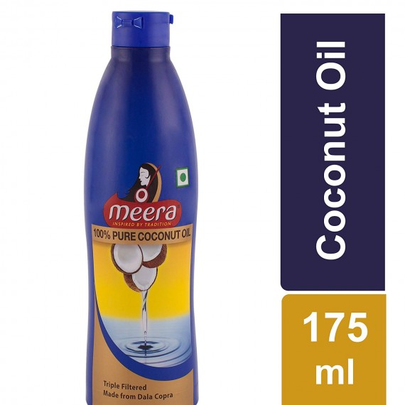 Meera Pure Coconut Hair Oil  (175 ml)