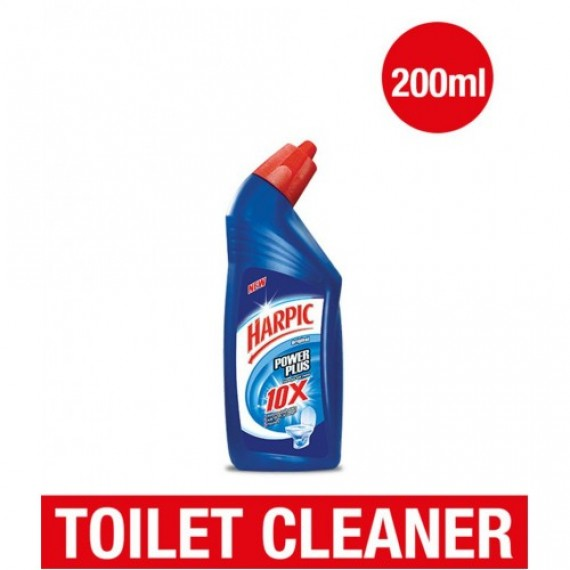 Harpic Power Plus Original Liquid Toilet Cleaner (200ml) (Free Medimix Soap)