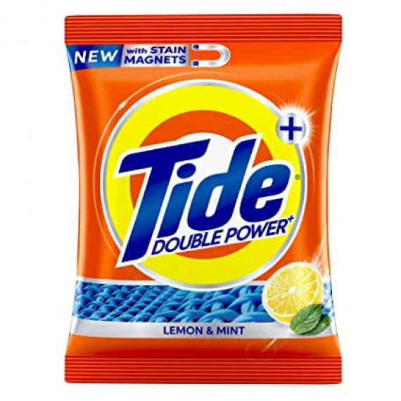 Tide Plus Detergent Washing Powder with double Power Lemon and Mint Pack -  500g